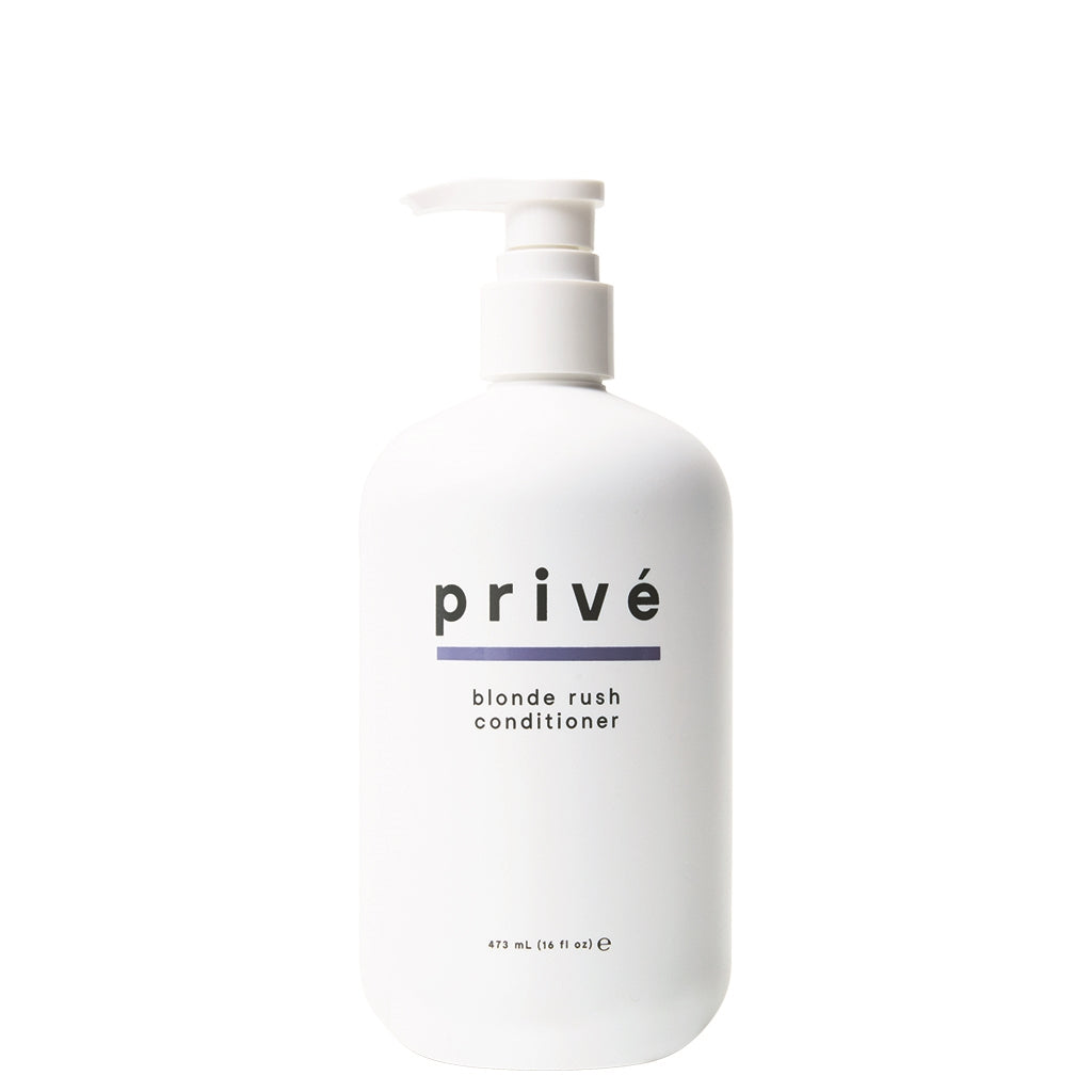 privé blonde rush conditioner 16 oz white pump bottle