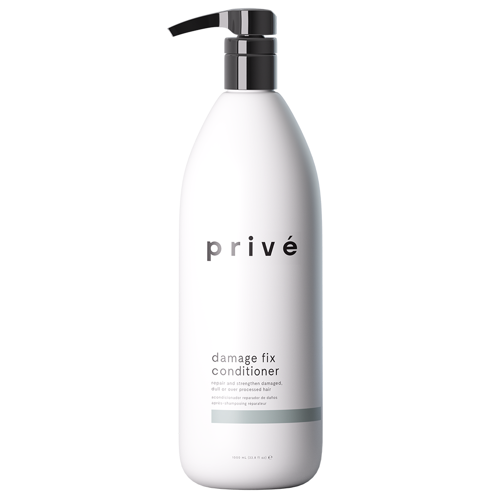 privé damage fix conditioner liter white pump bottle