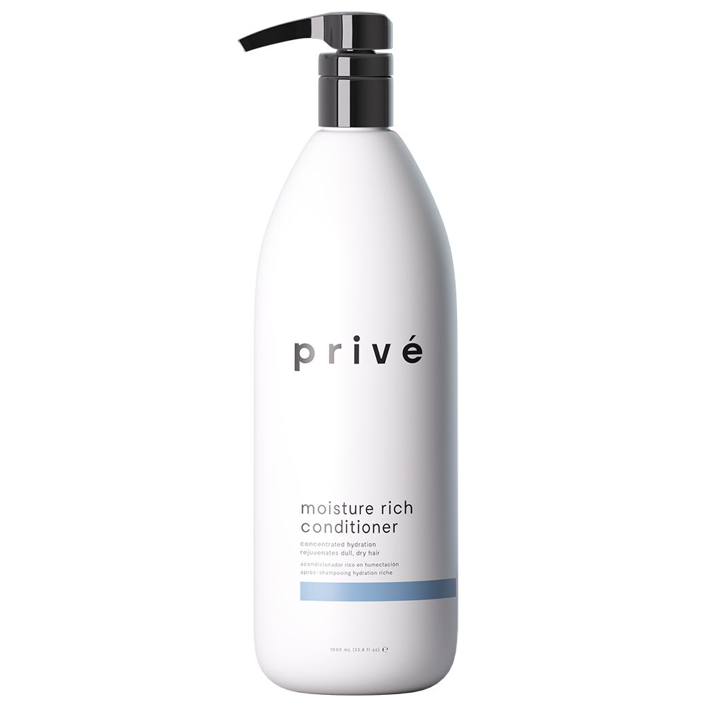 privé moisture rich conditioner liter white pump bottle