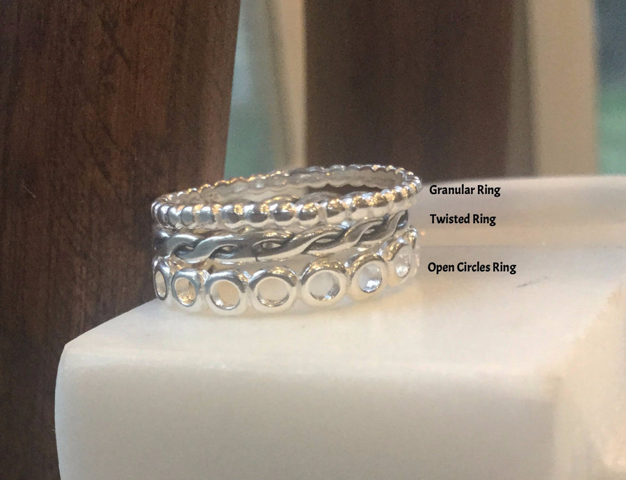 Sterling Silver Stackable Rings TRIO