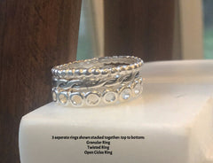 Sterling Silver Stackable Twisted Ring