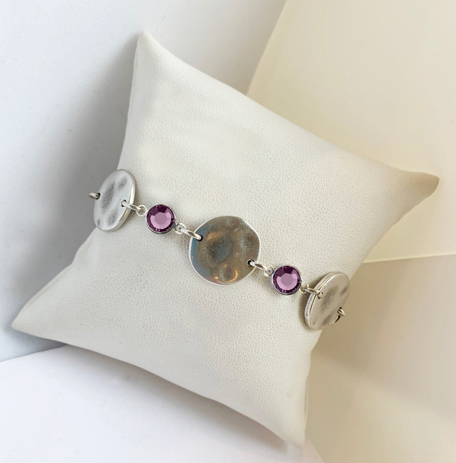 Sterling Silver Organic Coin Bracelet