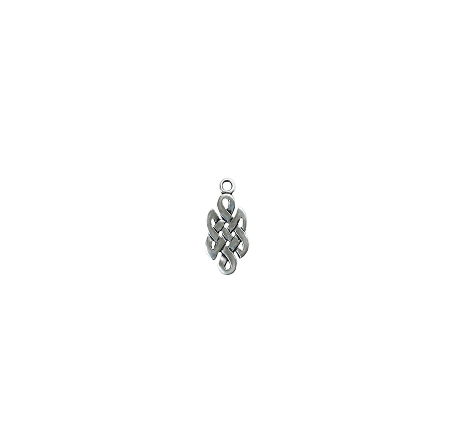Celtic Eternity Knot Charm - Sterling