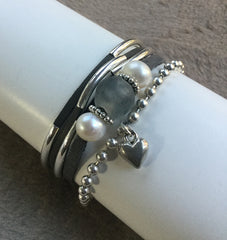SeaPearl Leather Bracelet