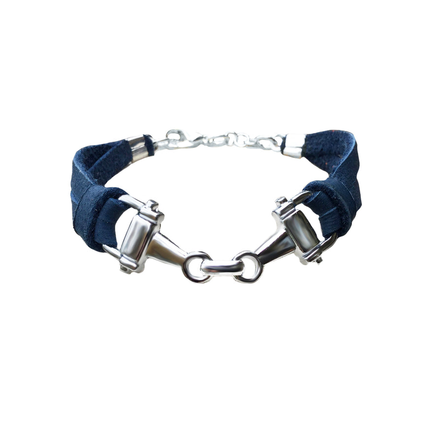 Leather Snaffle Bit Bracelet