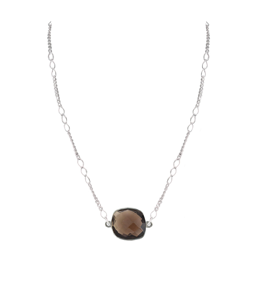 Sterling Silver Quartz Stone Necklace