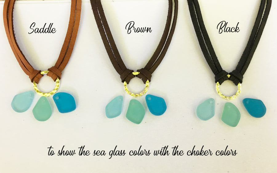 Sea Glass Mini Charm Necklace