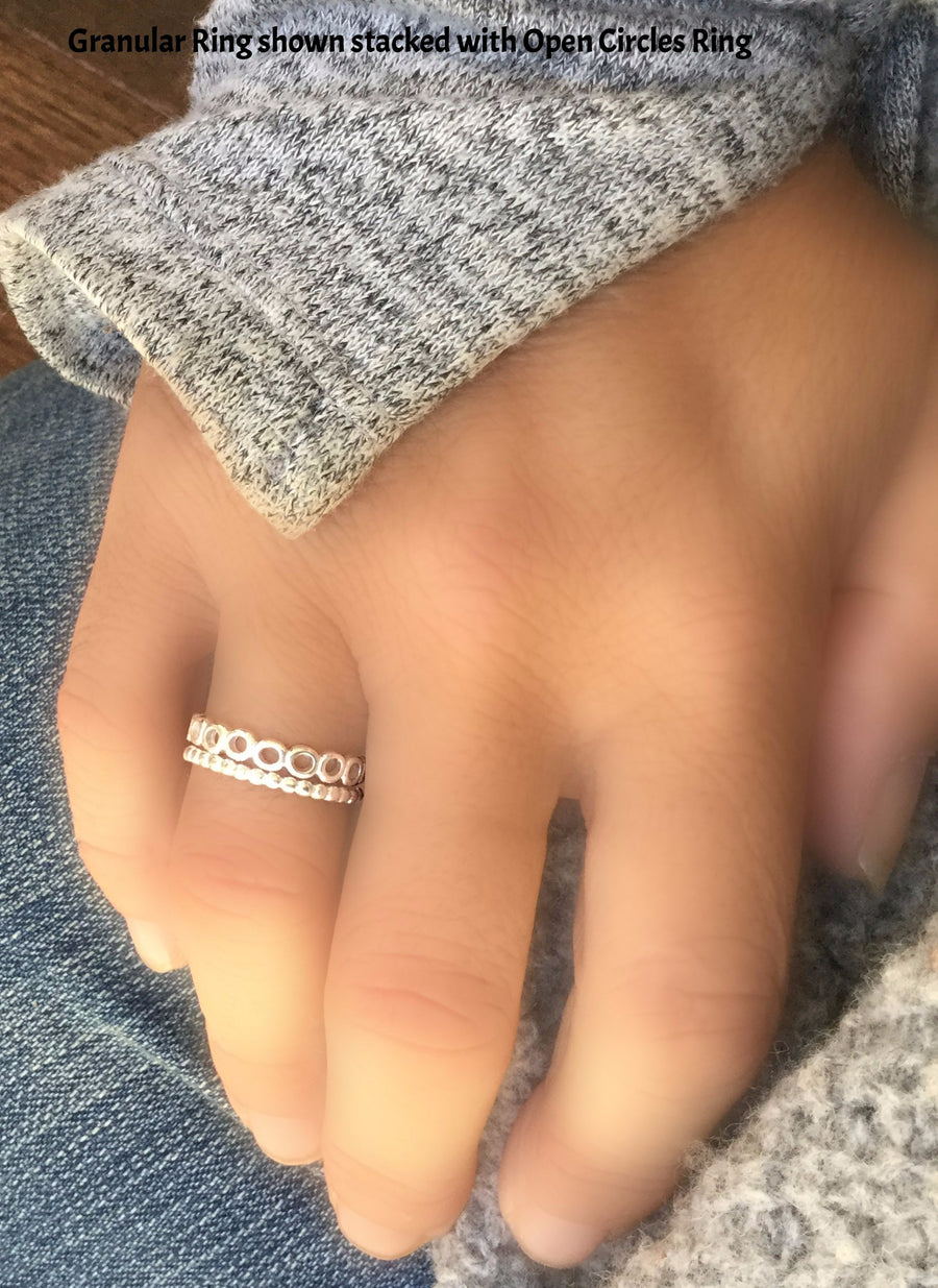 Sterling Silver Stackable Granular Ring