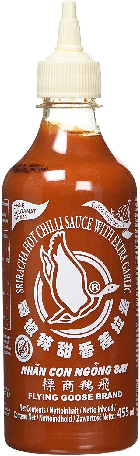 Sriracha Extra Garlic - Flying Goose Jumbo Squeezie 455ml