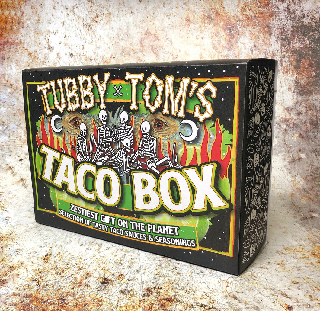 TUBBY TOM'S - TACO BOX - ULTIMATE TACO SAUCES X SEASONINGS GIFT SET