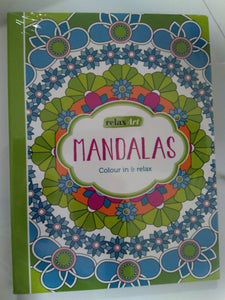 RELAX ART - MANDALAS COLOUR IN & RELAX (PAPERBACK)
