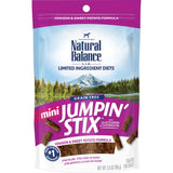Natural Balance Limited Ingredient Diets Mini Jumpin Stix Venison & Sweet Potato Formula with Glucosamine & Chondroitin Dog Treats
