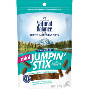 Natural Balance Limited Ingredient Diets Mini Jumpin Stix Chicken & Sweet Potato Formula with Glucosamine & Chondroitin Dog Treats