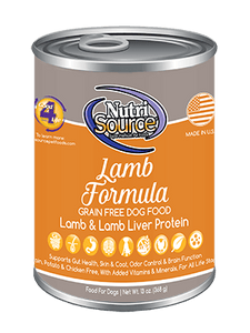 NutriSource Lamb Grain Free Canned Dog Food