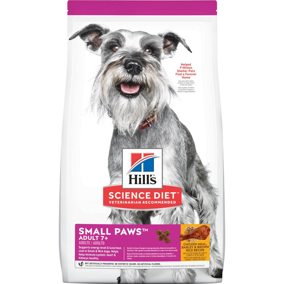 Hill's® Science Diet® Adult 7+ Small Paws™ Chicken Meal, Barley & Brown Rice Recipe dog food