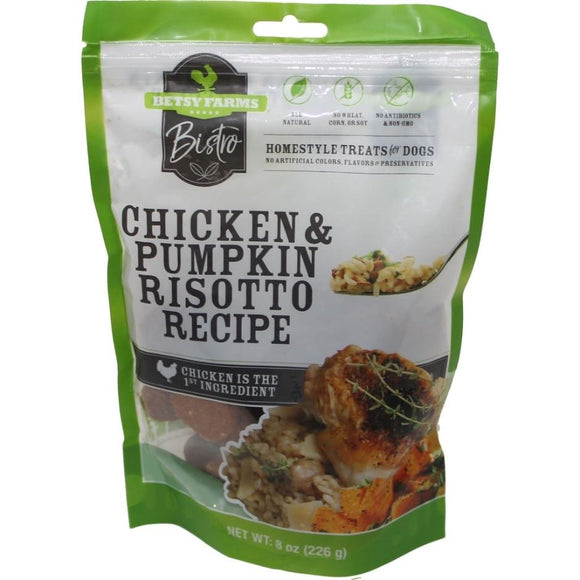 Betsy Farms Bistro Chicken & Pumpkin Risoto Dog Treats