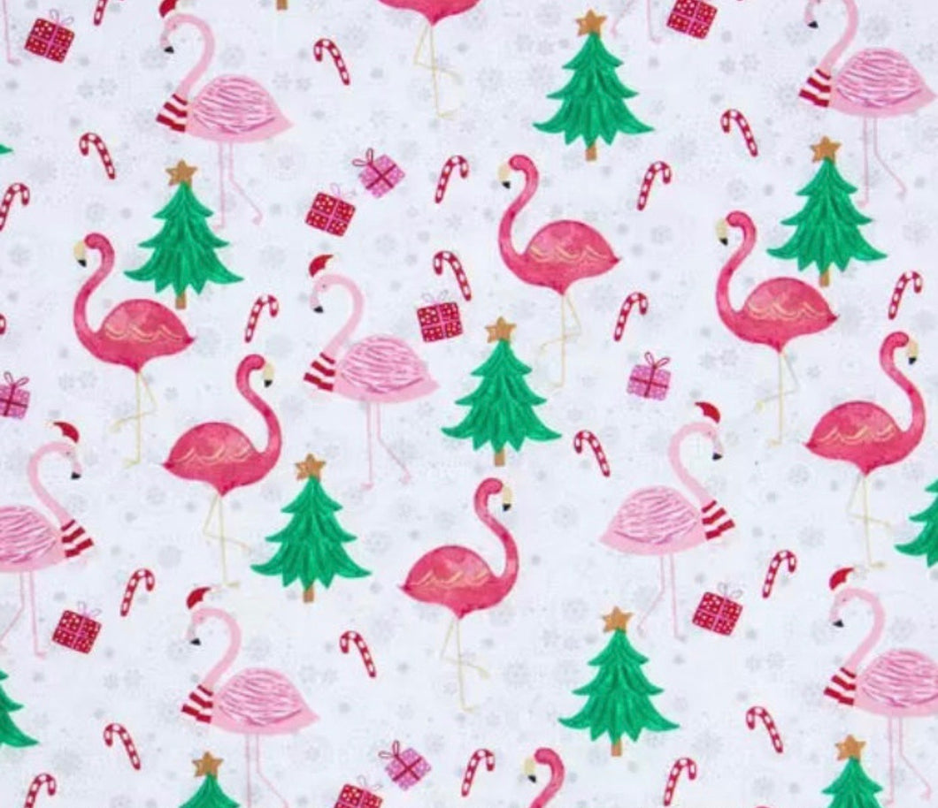 Christmas Cane Flamingos