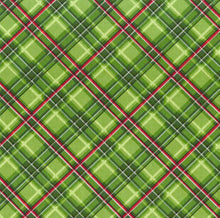 Load image into Gallery viewer, Green Christmas Tartan