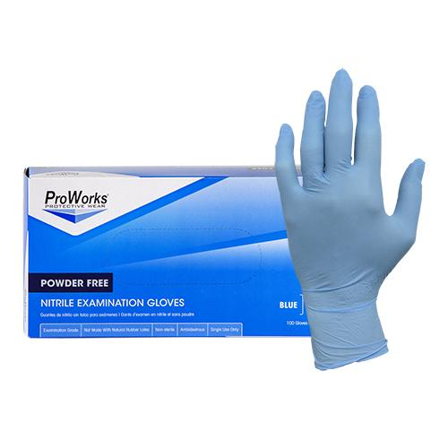 Gloves, 5 mil, Nitrile, Hypoallergenic, Blue, 100 Pack