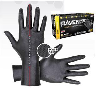 Gloves, 6 Mil, Nitrile, Large, Extended Cuff, 50 Box