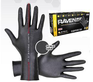 Gloves, 6 Mil, Nitrile, XL Extended Cuff, 50 Box