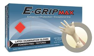 Gloves, 7 Mil, E Grip, Medium, Latex, 100 Box