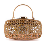 FANCY DIAMANTES EMBELLISHED BRIDAL CLUTCH