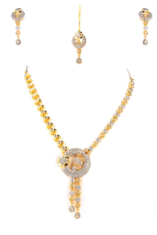 INDIAN STYLE ZIRCON STONES NECKLACE FOR WOMEN