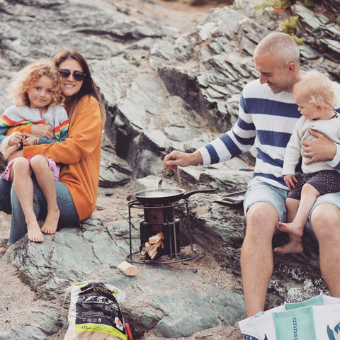 A picture of Ma Founder Katie with family, at the beach