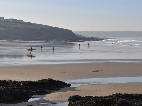 What is Slow Beauty? image of Polzeath beach in Cornwall