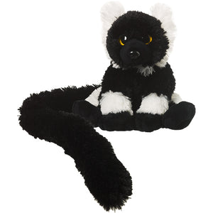 Long-Tail Black/White Ruffed Lemur