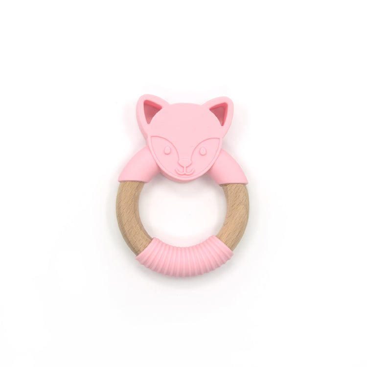 Load image into Gallery viewer, Oeko Teether Wolf Pink