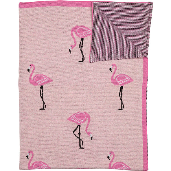 Throw Organic Cotton Flamingo