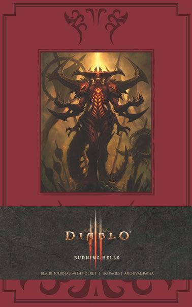 Diablo Burning Hells Hardcover Blank Journal (Large)