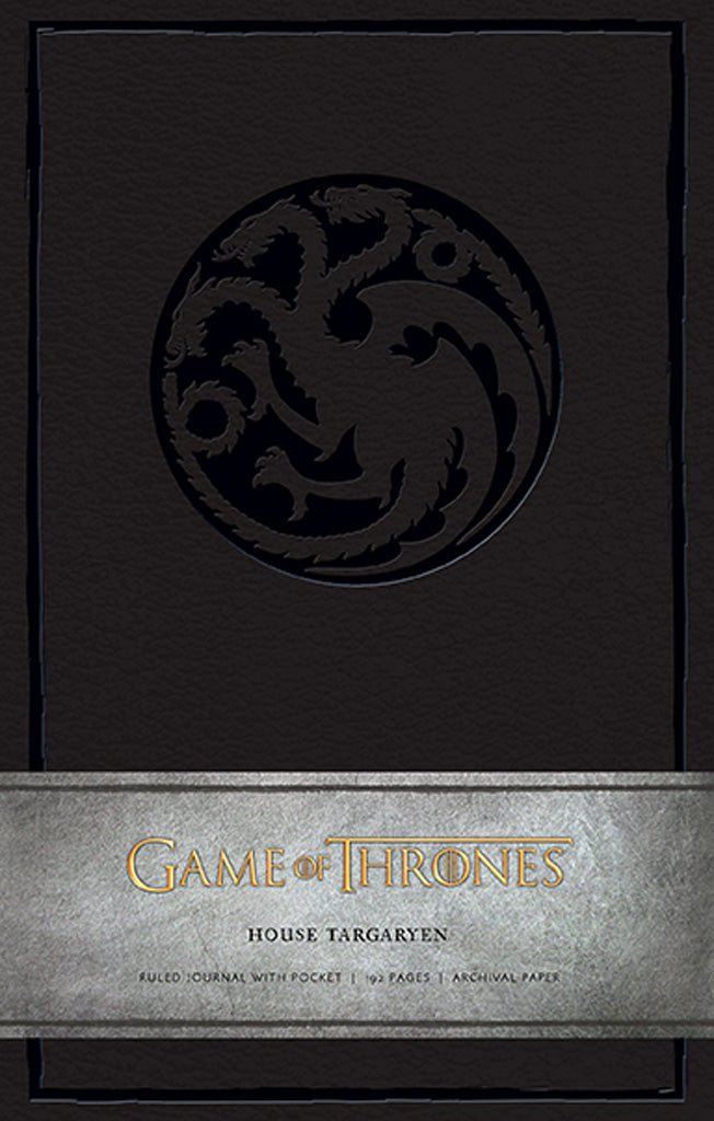 Game of Thrones: House Targaryen Hardcover Ruled Journal (Large)