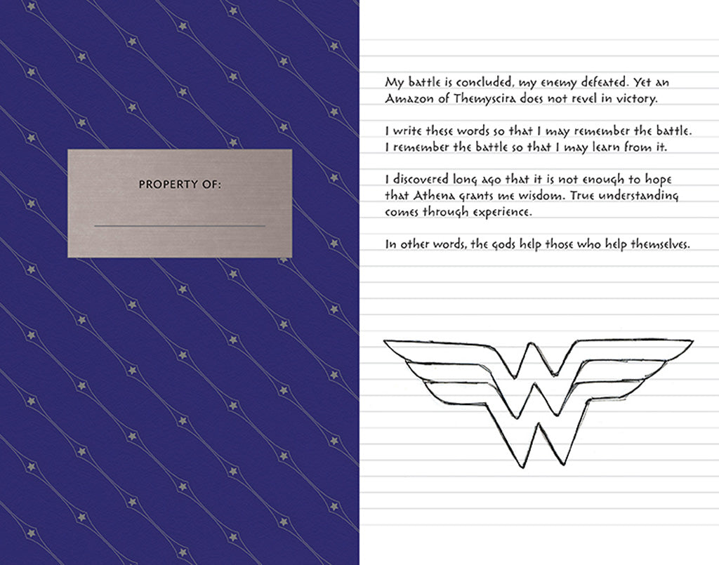 Wonder Woman Hardcover Ruled Journal