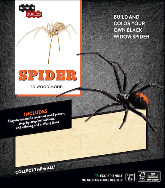 IncrediBuilds: Spider 3D Wood Model