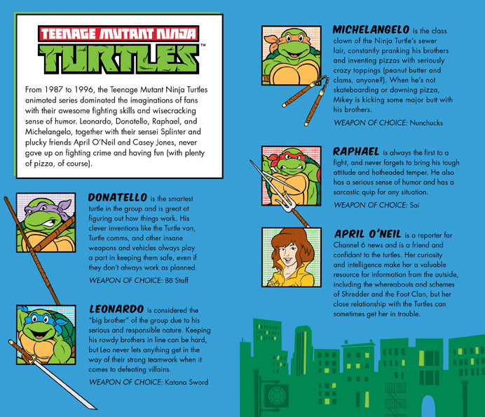 Teenage Mutant Ninja Turtles Retro Hardcover Ruled Journal