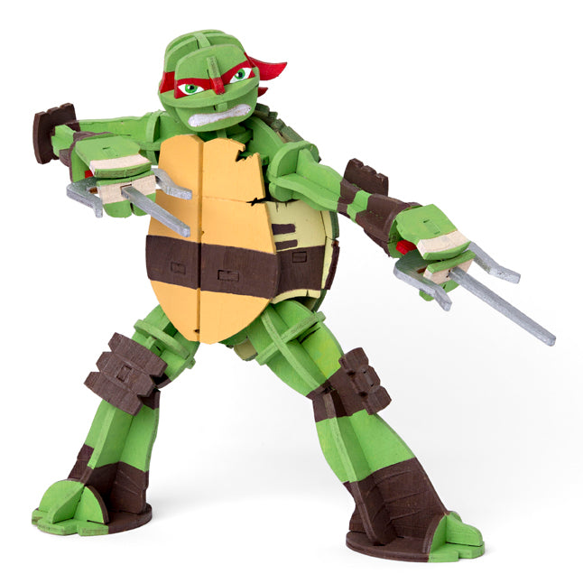 IncrediBuilds: Teenage Mutant Ninja Turtles: Raphael 3D Wood Model and Recipe Card