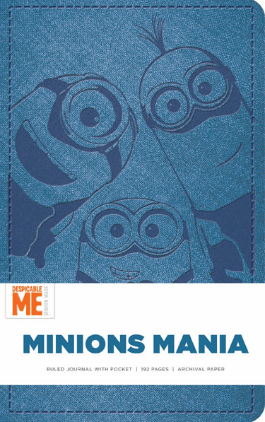 Minions Mania Hardcover Ruled Journal