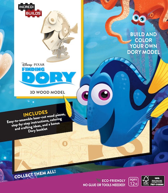 IncrediBuilds: Finding Dory 3D Wood Model