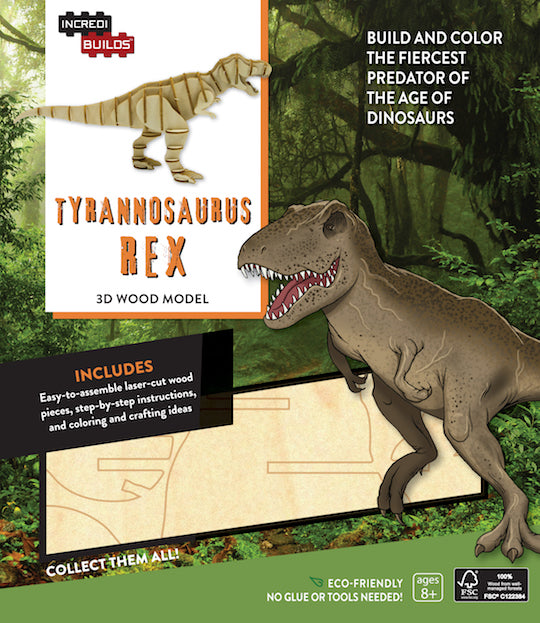 IncrediBuilds: Tyrannosaurus Rex 3D Wood Model