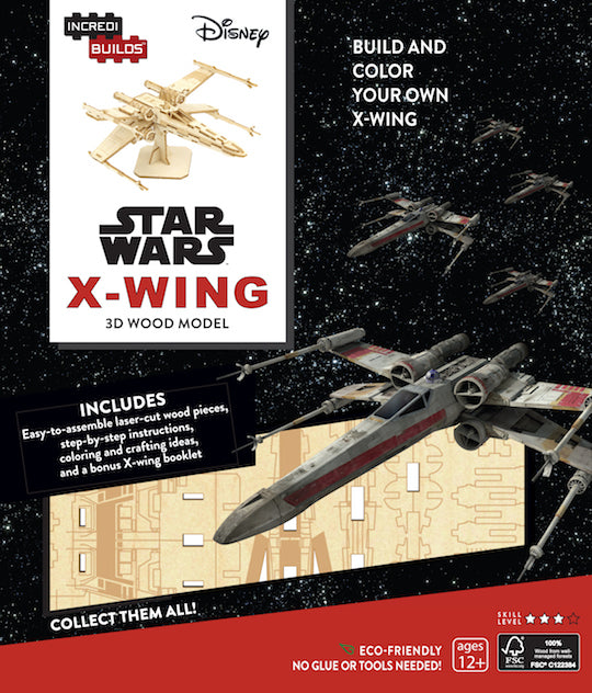 IncrediBuilds: Star Wars: X-Wing 3D Wood Model
