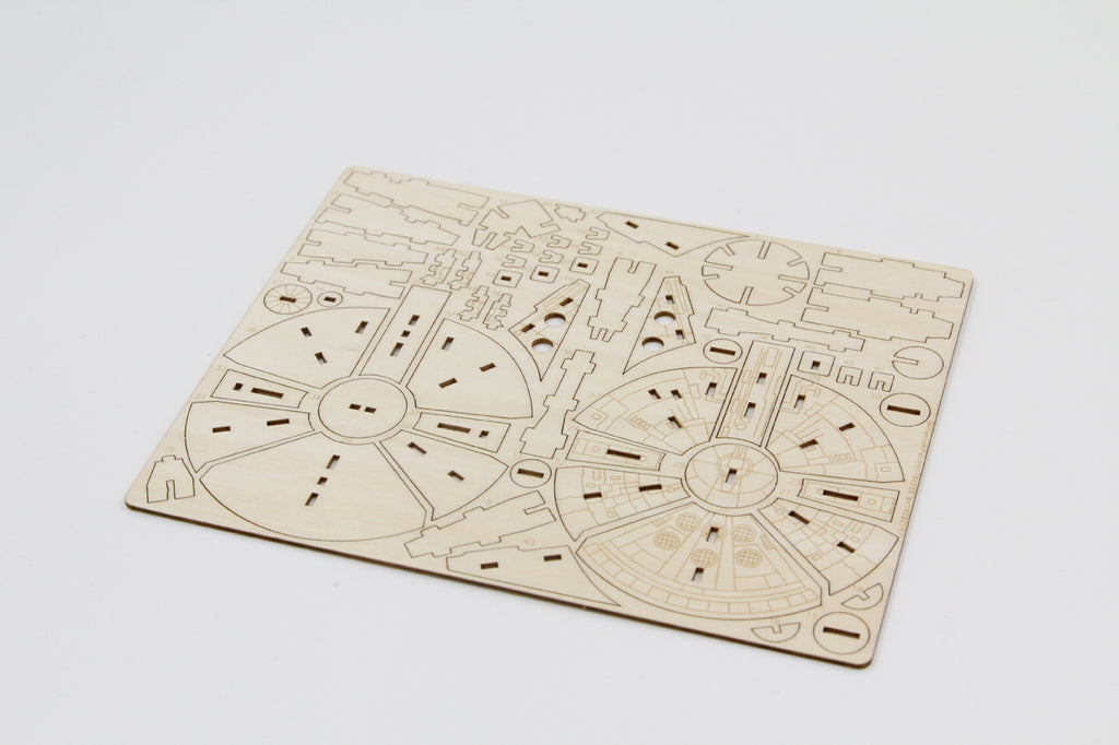 IncrediBuilds: Star Wars: Millennium Falcon 3D Wood Model