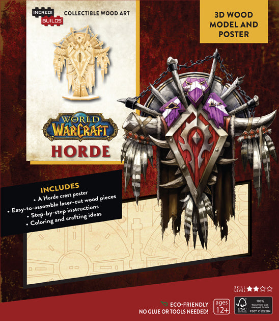 Incredibuilds: World of Warcraft: Horde 3D Wood Model and Poster
