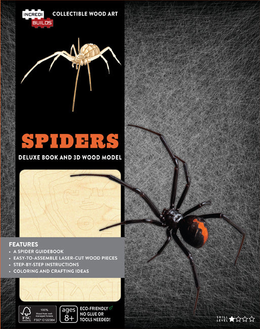 IncrediBuilds: Spiders Deluxe Book and Model Set