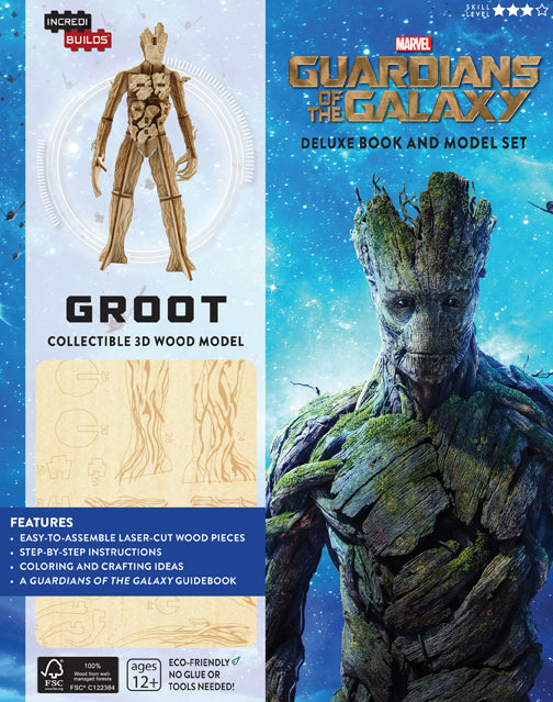 IncrediBuilds: Marvel: Groot: Guardians of the Galaxy Deluxe Book and Model Set