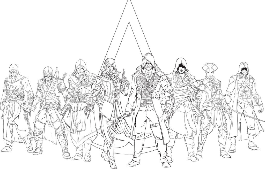 Assassin's Creed: The Official Coloring Book