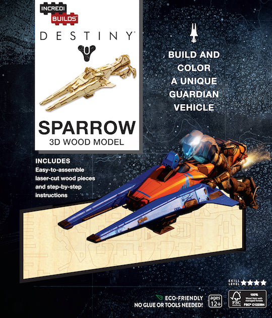 IncrediBuilds: Destiny: Sparrow 3D Wood Model [IE edition]