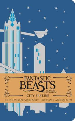 Fantastic Beasts and Where to Find Them: City Skyline Ruled Pocket Journal